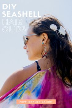 diy seashell hair cl