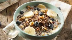 High Protein Breakfast, Quinoa Breakfast, Breakfast Recipes, Quinoa Porridge, Breakfast Porridge, Quinoa Pudding, Granola, Quinoa Health Benefits, Vegetarian Protein Sources