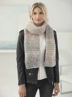 Seed Stitch Scarf (Knit) - Patterns - Lion Brand Yarn