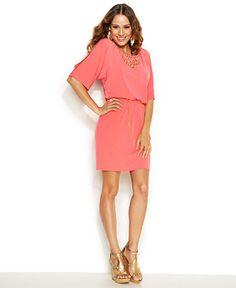 Thalia Sodi Studded Blouson Knit Dress - Dresses - Women - Macy's
