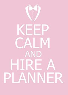 Sometimes this is best for you and your family's peace of mind. Plus, planners generally have access to discounts, venues, and vendors that you may not. :)