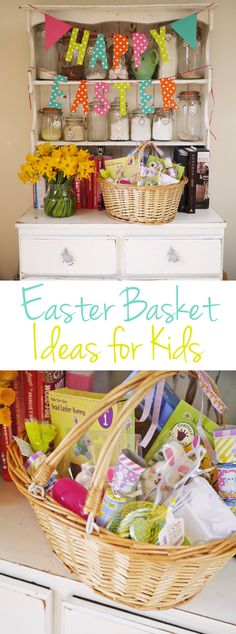 Easter Basket Ideas for Kids - Tips and advice for what to put into your Easter baskets to make something a little different for your children to celebrate the Easter holidays! | http://www.tamingtwins.com
