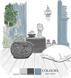 Farbgestaltung auf einem Balkon nach Feng Shui mit den apprico Colours  #appricoColours #fengshui