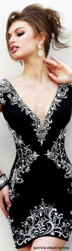 @roressclothes clothing ideas #women fashion black dress Sherri Hill