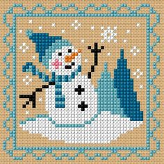 Thrilling Designing Your Own Cross Stitch Embroidery Patterns Ideas. Exhilarating Designing Your Own Cross Stitch Embroidery Patterns Ideas. Snowman Cross Stitch Pattern, Xmas Cross Stitch, Cross Stitch Cards, Cross Stitch Kits, Cross Stitch Designs, Cross Stitching, Cross Stitch Embroidery, Embroidery Patterns, Cross Stitch Patterns