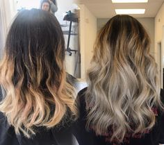 Before and after. Definitely in love with my new hair 😍 #ashombre