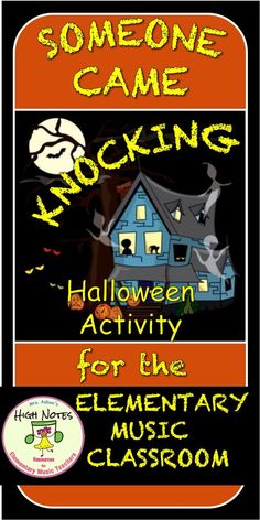 "Fantastic Activity for teaching that music creates mood. Use the poem, ""Someone,"" by Walter de la Mare to integrate the arts and literature. Your admin will love it! Halloween Arts And Crafts, Halloween Songs, Halloween Activities, Preschool Music, Music Activities, Elementary Music Lessons, Music And Movement, Piano Teaching, Reading Lessons"