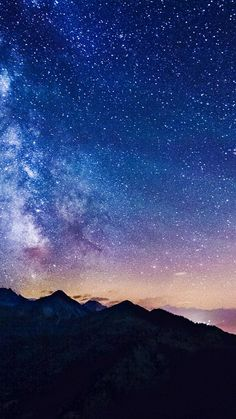 Milky Way Over Mountains Chain iPhone 6 Plus HD Wallpaper Wallpaper Iphone5, Galaxy Wallpaper, Cool Wallpaper, Mobile Wallpaper, Wallpaper Backgrounds, Iphone Wallpapers, Beautiful Wallpaper, Apple Wallpaper, Iphone Backgrounds