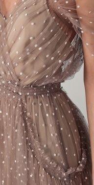 spotted mesh dress #celebstylewed #weddings @celebstylewed