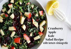 Cranberry Apple Kale Salad