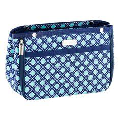 Navy & Aqua Tile in.bag Handbag Organizer