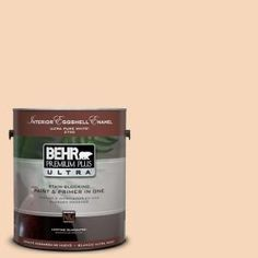 BEHR Premium Plus Ultra 1-Gal. #UL120-12 Porcelain Peach Interior Eggshell Enamel Paint-275001 at The Home Depot
