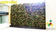 Los muros verdes son una instalación vertical cubierta de plantas de diversas especies que son cultivadas en una estructura metálica dando la apariencia de ser un jardín pero en vertical, de ahí que también se le conozca como jardín vertical. Las plantas se enraízan en compartimientos hechos a la medida de la planta, entre dos láminas de material fibroso anclado a la pared. Cada muro lleva instalado un sistema de riego de agua, abono y fertilizantes para el cuidado de las plantas.