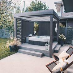Hot Tub Pergola, Hot Tub Garden, Hot Tub Backyard, Hot Tub Privacy, Hot Tub Room, Tub Enclosures, Back Garden Design, Outdoor Spa, Backyard Patio Designs