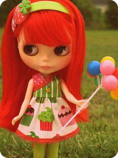 Jubilee Blythe - So cute! Ooak Dolls, Blythe Dolls, Divas, Valley Of The Dolls, Creepy Dolls, Little Doll, Hello Dolly, 3d Character, Cute Dolls