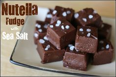 fudge. I made this  today and it is the BEST fudge ever! I reduced nutella to 3/4 cup and added 1/4 cup peanut butter.  I also used dark choc chips.