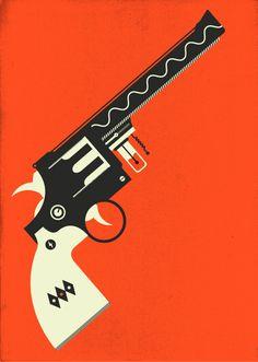 Ray Gun 52 by Dan Blackman Graphic Design Typography, Graphic Art, Gun Art, Country Art, Country Living, Le Far West, Art Direction, Vector Art, Illustration Art