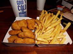 chicken mcnuggets, fries and a coke, happiness that will kill me