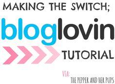 Making the Switch; a BlogLovin' Tutorial via @pepperandherpups