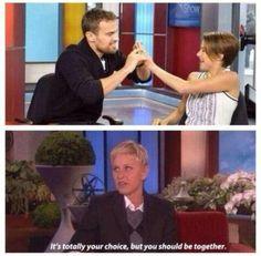 Ellen knows what's going on