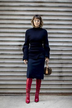 The Best Street Style Looks From New York Fashion Week Fall 2018 - Fashionista New York Street Style, Street Style 2018, Autumn Street Style, Street Style Looks, Street Style Women, Estilo Fashion, Korean Fashion, Fashion Days, Winter Fashion