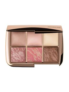 Hourglass Ambient Lighting Edit The six highlighting powders inside the rose-gold case—three solid (rosy beige, shimmering pale pink, and luminous white) and three marbled (in similar tones)—are truly beautiful. (It's one of the most Instagrammable palettes we've seen.) And though you may be tempted, resist the urge to keep the powders perfectly preserved for all eternity; each blends seamlessly and resembles skin's natural finish, so you'll look like your face just naturally happens to…