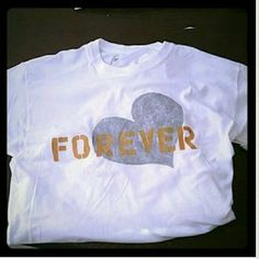 Forever Heart Tshirt Forever Heart Tshirt  HANDMADE Size  S  M L XL House of Queen  Tops Tees - Short Sleeve