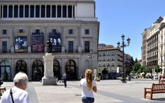 Heading back to our hotel (Hotel Opera) across from the Madrid Opera
