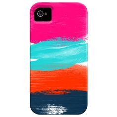 Feminine - The bright color palate from each brushstroke, visually intrigues me. The muddy look of the brush strokes across the back of the iPhone case, displays uniqueness.