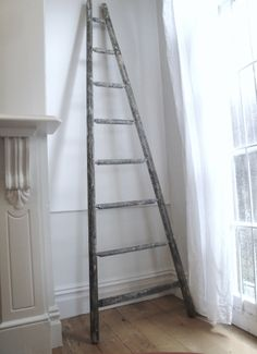 Antique chippy French ladder www.pure-provenance.com