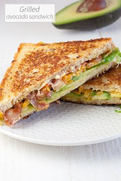 O.M.G. this is awesome. Grilled avocado sandwich is a combination of melted cheese, crispy bacon and avocado. Expect a flavor explosion!