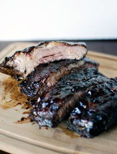 Smoked BBQ Ribs ~ I'm from Texas and to me....it's gotta be...smoked!!