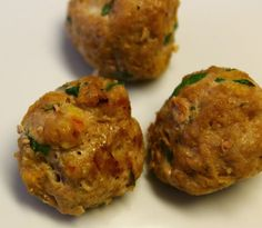 turkey meatballs with carrot and spinach