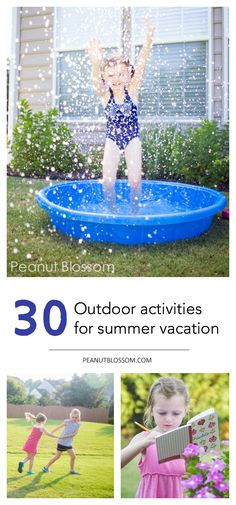 30 classic outdoor activities for kids, this is so perfect for summer vacation ideas! What a great way to keep the kids busy and make a summer bucket list.