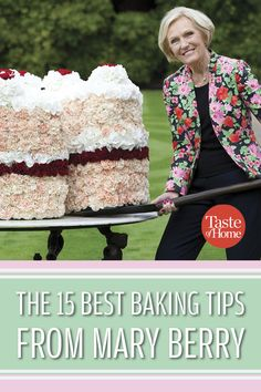 The 15 Best Baking Tips from Mary Berry is part of Baking recipes - Learn how to avoid the dreaded soggy bottom (and much, much more) with tips from one of our favorite bakers The Great British Baking Show's Mary Berry Baking Muffins, Baking Cupcakes, Cupcake Cakes, Baking Cookies, Shortbread Cookies, Bread Baking, Baking Recipes, Cake Recipes, Baking Hacks