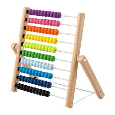 IKEA - MULA, Abacus, One yellow, three greens and two blue ones. This abacus helps your child practice both maths and colours – and proudly show you their new skills. Develops fine motor skills and logical thinking. This product bears the CE mark. Ikea Family, Best Kids Toys, Toy Kitchen, Design Your Life, Cool Toys, Clear Acrylic, Wooden Toys, Cleaning Wipes, Home Furnishings