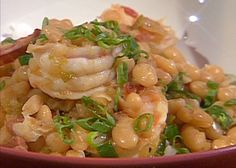 Creole White Beans with Shrimp from FoodNetwork.com. Oh, man. My grandmother used to make shrimp & white beans.