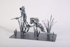 Diving family Metaldiorama Metal Art by MetalDiorama on Etsy