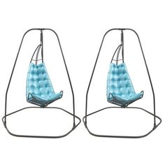 Pair of Fabulous Hanging Chairs | From a unique collection of antique and modern lounge chairs at http://www.1stdibs.com/furniture/seating/lounge-chairs/