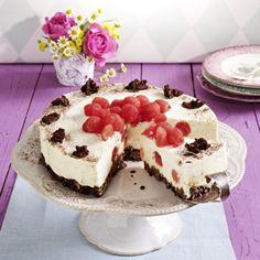 Melonen-Frischkäse-Torte mit Müsliboden Rezept | LECKER