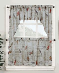 Valances Window Toppers Swags Galore Bird Curtainssheer Curtainswaterfall Valancewindow Topperskitchen