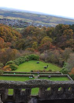 View of Scottish Countryside from Castle Campbell