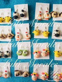 Lindos aroz Polymer Clay Animals, Cute Polymer Clay, Cute Clay, Polymer Clay Charms, Polymer Clay Projects, Polymer Clay Jewelry, Clay Crafts, Diy And Crafts, Matchbox Crafts