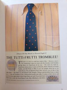 Eagle Shirtmakers - The Tutti-Frutti Tromblee