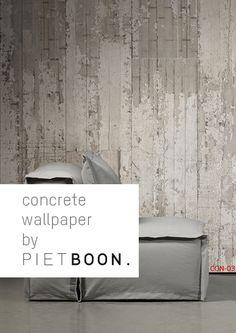Concrete Wallpaper by Piet Boon I'd rather build house w/concrete.