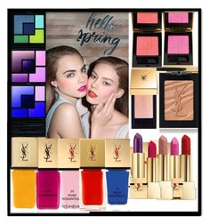 """""""Spring colour scheme """" by aaansm on Polyvore featuring beauty and Yves Saint Laurent"""