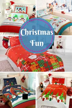 Everyone decorates their home at Christmas but have you ever thought of adding a bit of Christmas sparkle to your kids bedrooms.   These Christmas Duvets are a great way to help with the excitement of Christmas if you put them on at the start of December or add to their bed on Christmas Eve.  Check them out on our website http://www.koolkidsrooms.co.uk/product-category/kids-bedroom-themes/christmas/