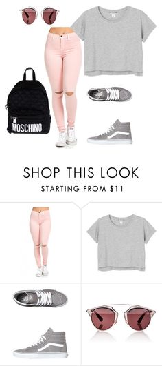 Spring Adventure by amarie003 on Polyvore featuring Monki, Vans, Moschino, Christian Dior and casual