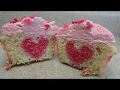 Hidden Heart Valentine's Cupcakes - with yoyomax12 - YouTube