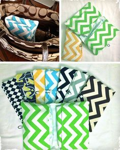 Chevron Diaper Clutches...they're really cute, but can I use it for something other than diapers?!